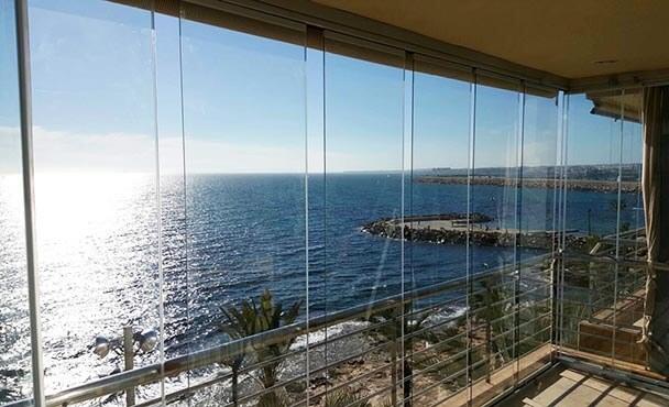 Cortinas de cristal estepona marbella m laga algeciras for Cortina cristal terraza