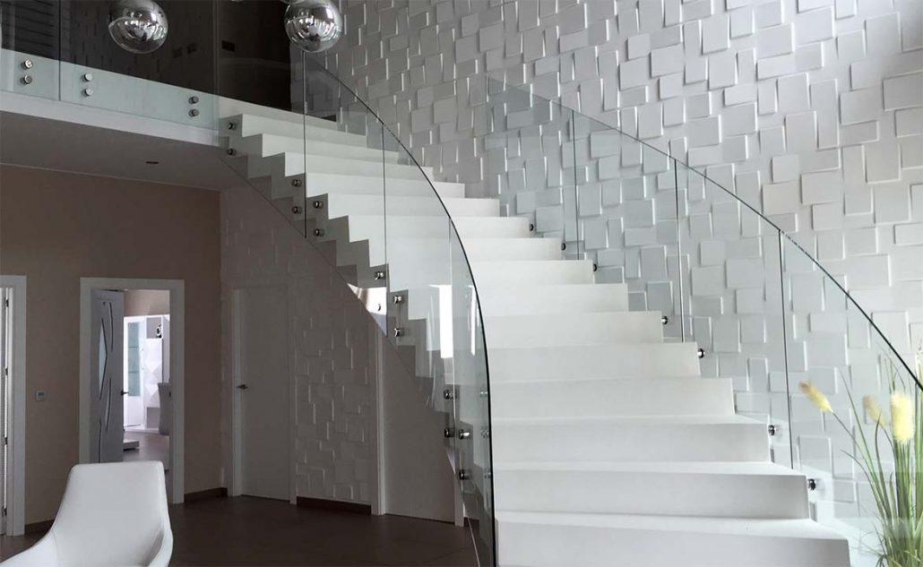 Barandillas de acero inoxidable y cristal marbella - Barandillas cristal para escaleras ...