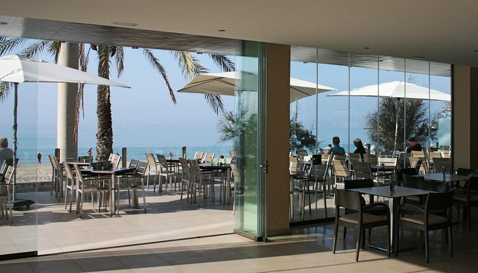 Cortina Cristal Barcelona Restaurante